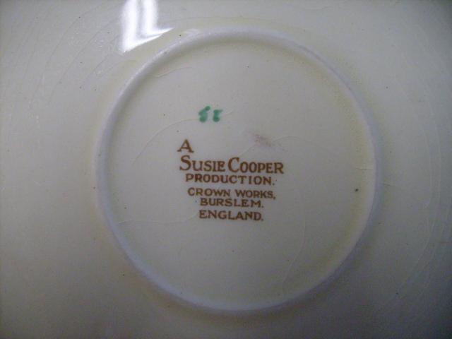 アンティーク 陶磁器 スージー クーパー スージークーパー(Susie Cooper) ドレスデン・スプレイ (Dresden Spray) トリオ