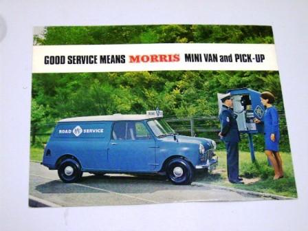 カタログ Morris Mini Van&Pick-up オリジナル 当時もの オートモビリア 印刷物 カタログ
