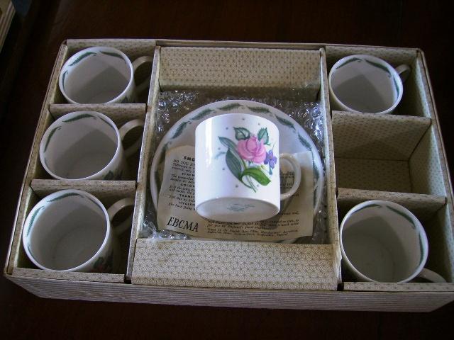 アンティーク 陶磁器 スージー クーパー スージークーパー(Susie Cooper) フレグランス (Fragrance) コーヒーカップ6客セット 新品 箱付き