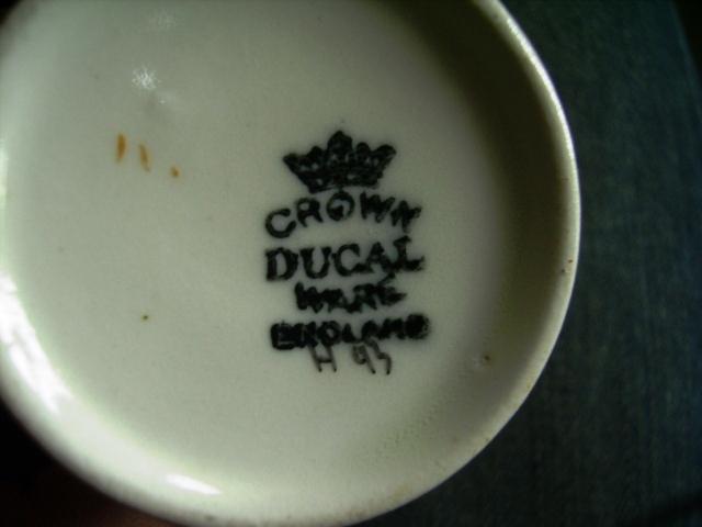 雑貨(キッチン) 雑貨陶器 CROWN DUCAL カップ&ソーサー+シュガーボール+ポット