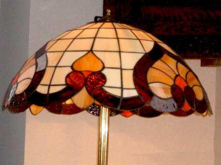 トール ランプ・スタンド (NO.519シェード付き),アンティーク 照明,ランプ(すでに組み合わせられている照明)