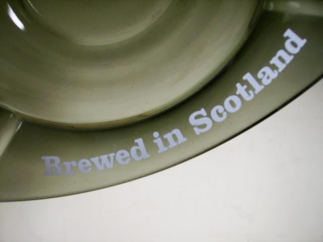 雑貨(パブ・グッズ) 灰皿 灰皿 (Younger's Tartan Breed in Scotland)緑