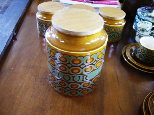 ホーンジー (Hornsea) Flour(小麦粉)ポット(カメリア) Bronte アンティーク 陶磁器 雑貨陶器