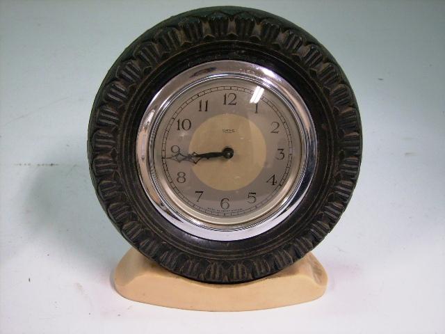 ビンテージ/コレクタブル 時計 Smith 置時計(タイヤ型の枠)