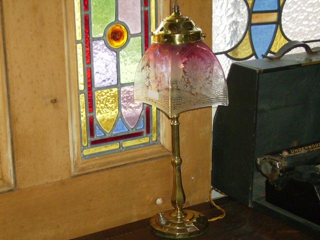 アンティーク 照明 ランプ(すでに組み合わせられている照明) ランプ スタンド (シェード、ギャラリー含む)