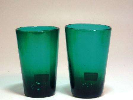 アンティーク ガラス グリーン・ブルー系 グリーン グラス 1個