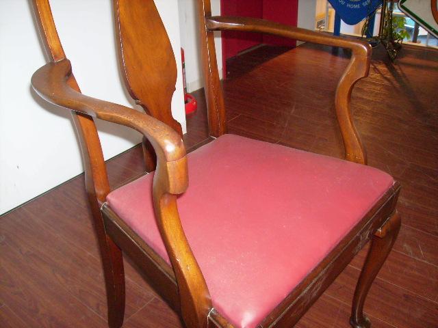 クイ-ンアンスタイル アーム付 1脚,アンティーク 家具,チェア・ソファー