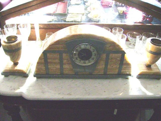 大理石 時計+キャンドルセットx2,アンティーク 時計,時計 アンティーク/ビンテージ