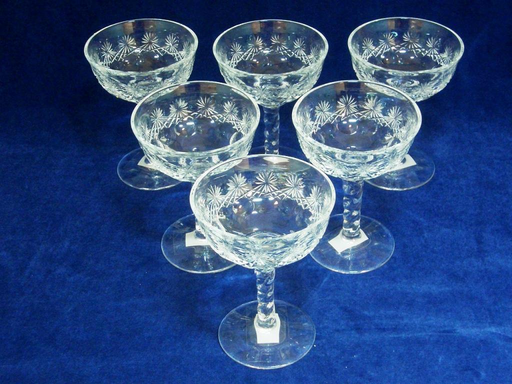 アンティーク ガラス クリアー系 グラス(89,90,91,92,93,94 セット)