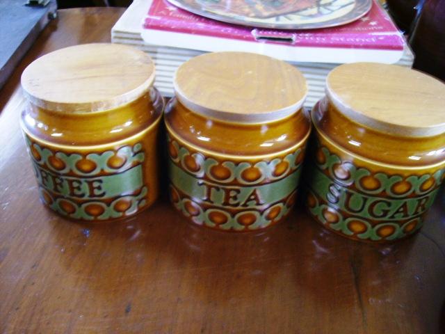 ホーンジー (Hornsea) ポット3点セット(コーヒー・ティー・シュガー) Bronte アンティーク 陶磁器 雑貨陶器