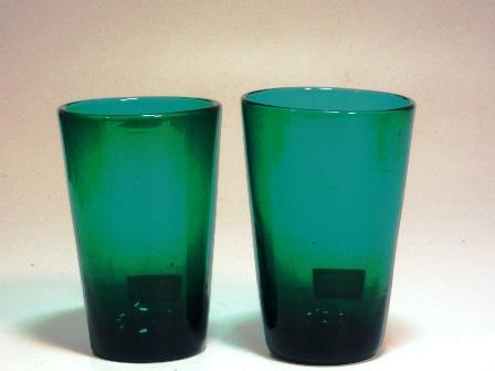 アンティーク ガラス グリーン・ブルー系 グリーングラス 1個