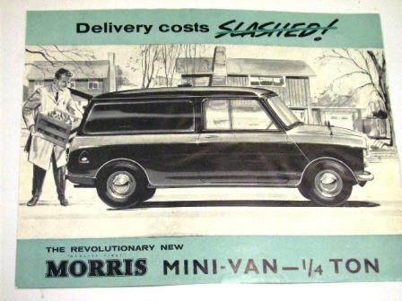 カタログ Morris Mini Vanオリジナル 当時もの オートモビリア 印刷物 カタログ