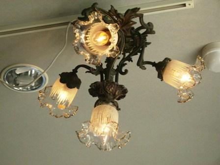 アンティーク 照明 シャンデリア・ハンギングランプ ハンギングランプ 4灯 ブロンズ