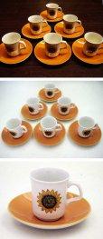 画像2: J&G Meakin(ミーキン) コーヒーカップ 6客セット (2)