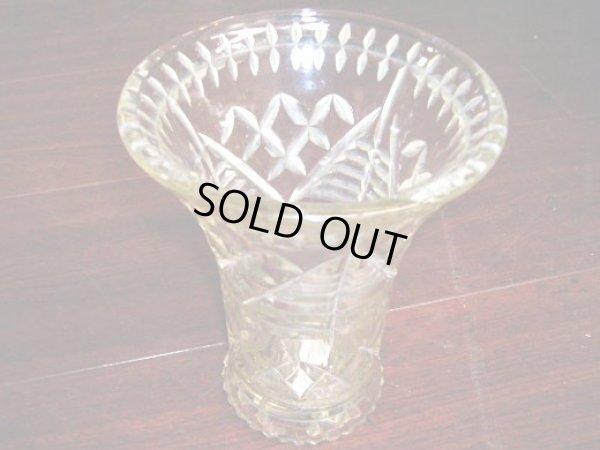 画像1: カットガラス バーズ 花器