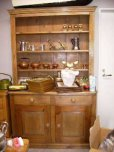 画像2: オールドパイン キッチン ドレッサー (カップボード) (2)