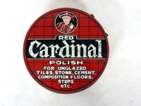 ビンテージ ティン(缶) POLISH RED CARDINAL