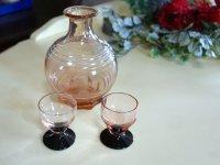 デカンタ(花瓶) と グラス2客 セット