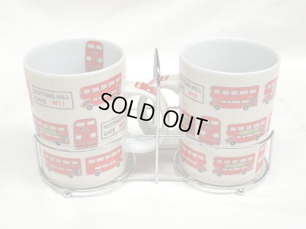 画像2: ロンドンバス マグカップ 2個セット 箱付き (1)(2)