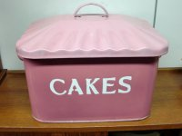 ホウロウ ケーキ入れ