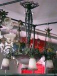 画像7: アールヌーボー様式 ハンギングランプ 大1灯+小4灯 デュゲ