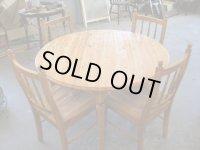 パインテーブル+椅子4脚セット
