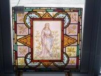 ステンドグラス (エナメル彩色の女性画付き) 7