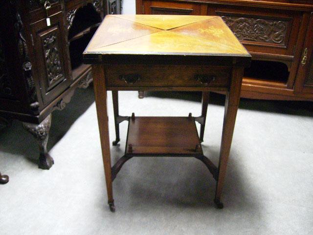 画像2: ゲームテーブル(折りたたみ式・象嵌)