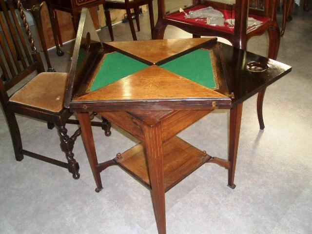 画像4: ゲームテーブル(折りたたみ式・象嵌)