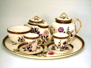 画像1: ロイヤルウースター(Royal Worcester) Tea Set(トレー付)