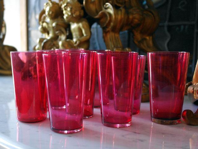 画像5: クランベリー グラス 1個