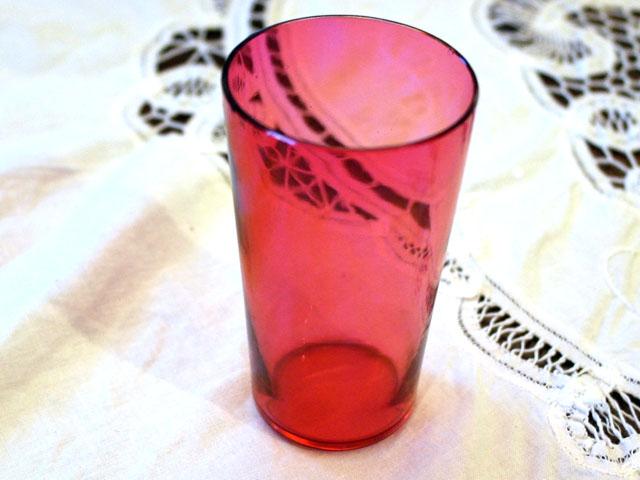 画像1: クランベリー グラス 1個