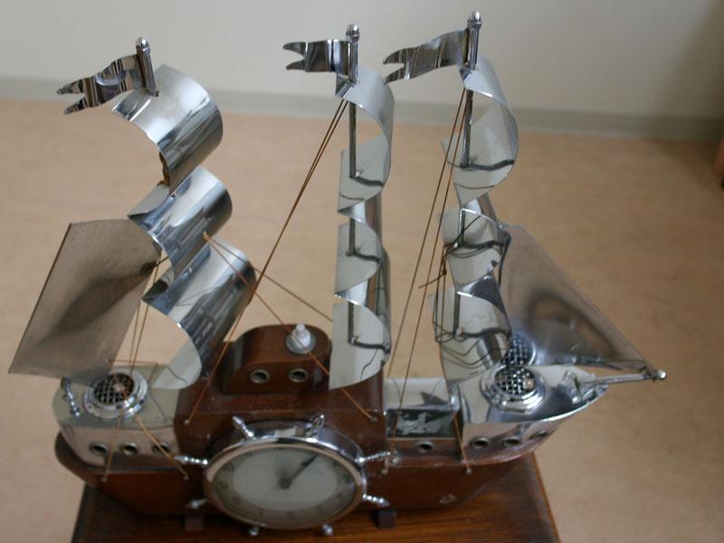 画像2: 英国 Metamec(メタメック)社製時計 帆船 電気付