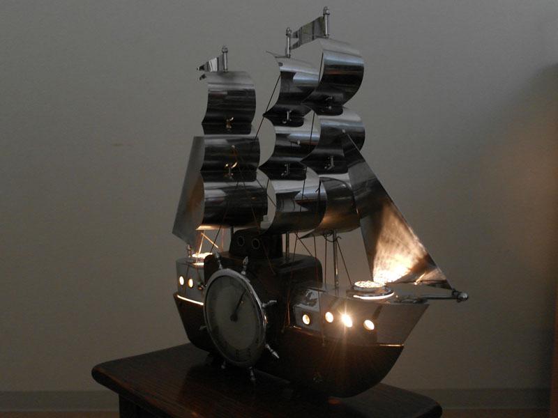 画像5: 英国 Metamec(メタメック)社製時計 帆船 電気付