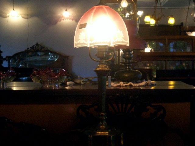 画像2: ランプ スタンド 真鋳 &シェード(No.340)