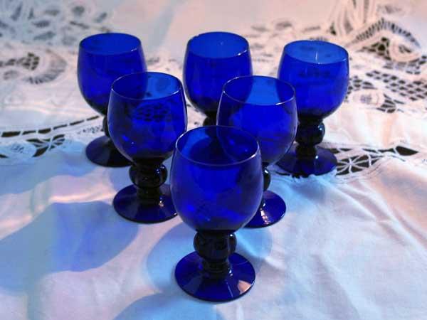 画像2: グラス シェリーグラス ブルー 小(6個)セット