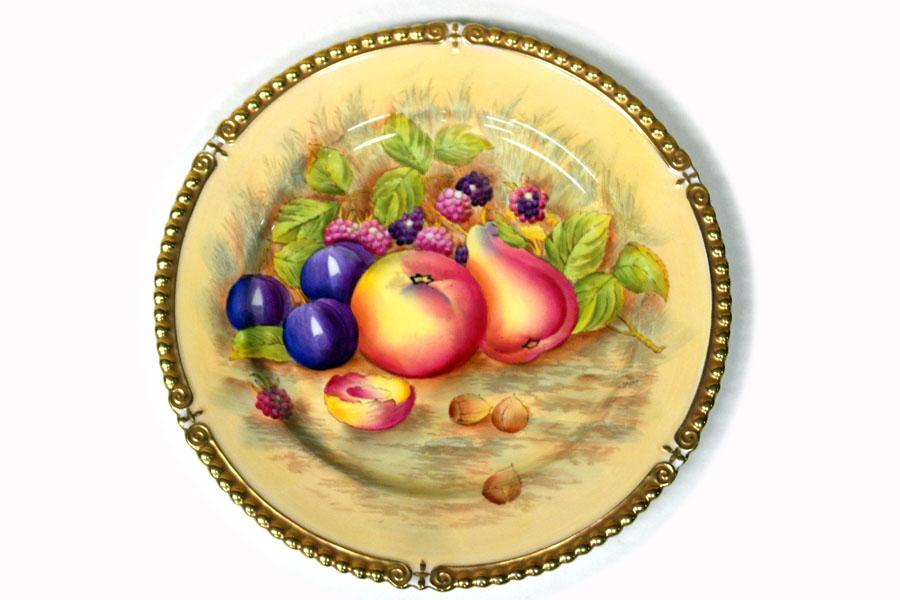 画像3: プレート Aynsley (エインズレイ) Orchard Fruit /オーチャード フルーツ 22金