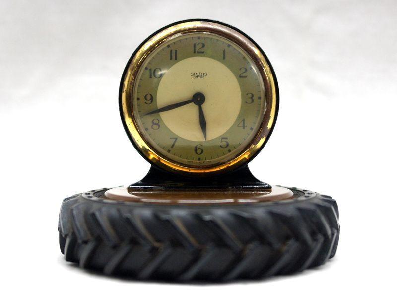 画像1: Smith 置時計(タイヤ型置物)