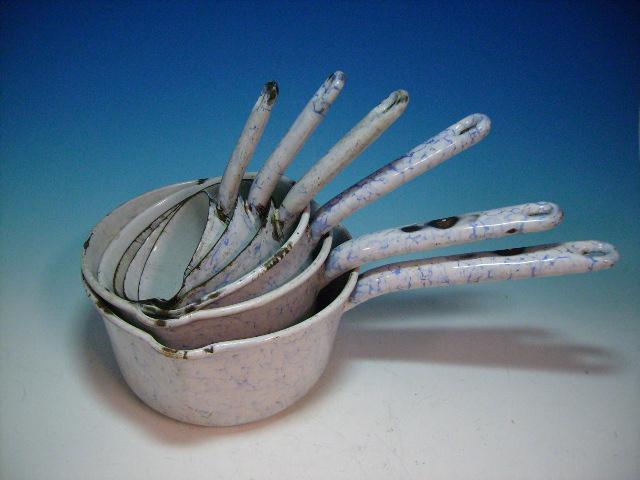 画像1: ホウロウ ソースパン 6点セット