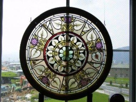 画像1: ステンドグラス 丸 大