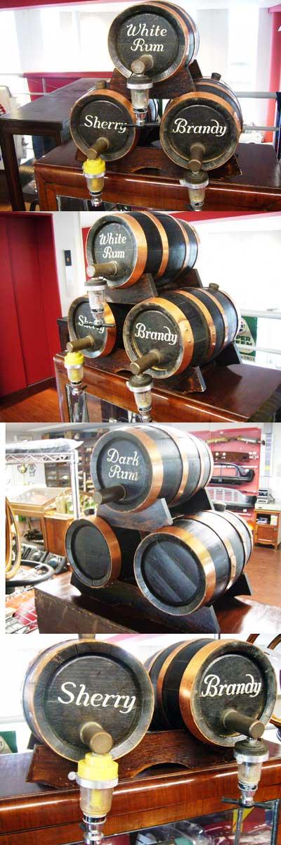 画像2: アンティーク 酒樽ミニ 3個セット
