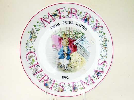 ウェッジウッド(Wedgewood)のピーターラビット・クリスマスプレート(1992年)を今年20歳になる方へのクリスマス・プレゼントにいかが?