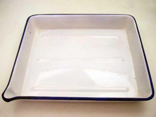画像1: ホウロウ 食品バット