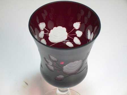 画像2: ボヘミアン ルービー カットガラス (6個セット)
