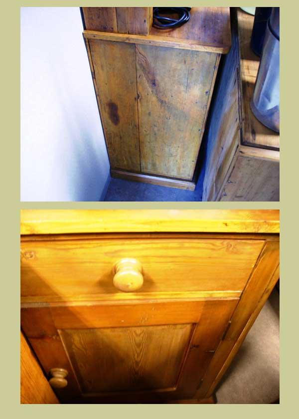 画像4: オールドパイン キッチン ドレッサー (カップボード)