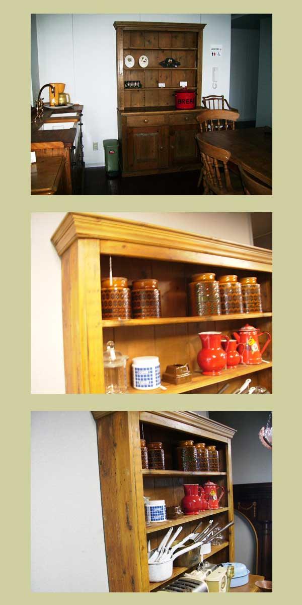 画像3: オールドパイン キッチン ドレッサー (カップボード)