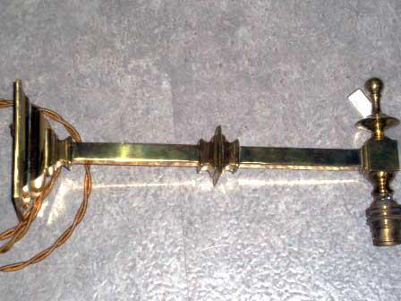 画像1: ウォール ランプブラケット 真鍮
