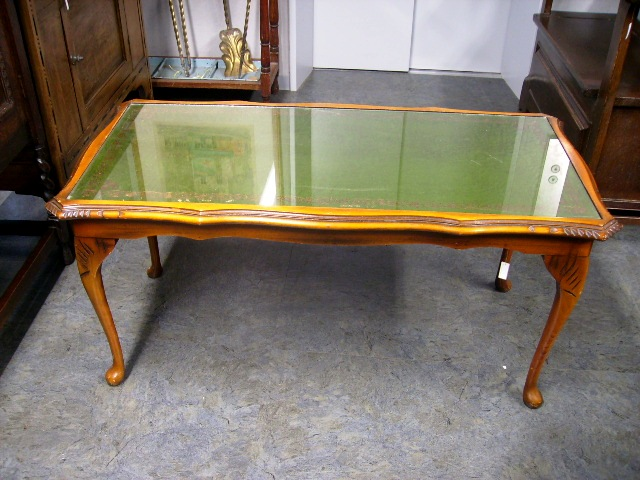 画像1: コーヒーテーブル(レザー)