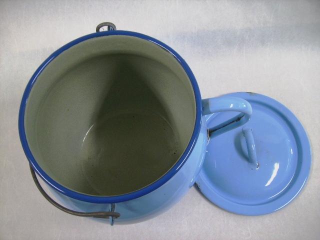 画像2: ホウロウ 容器(蓋付き)