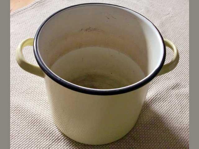 画像3: ホウロウ 鍋 蓋付き クリーム色